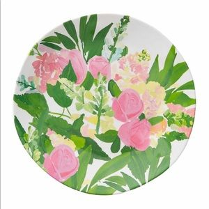 Anthropologie Kelly Green melamine plate